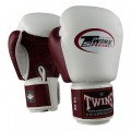 Twins Boxing Gloves - White/Wine Red
