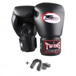 Twins BG-N Gloves + Gel Bitje Black Transparent