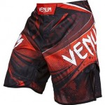 MMA Shorts Venum Galactic Fightshorts Black/Red