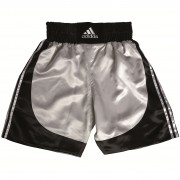 """Multi"" Boxing Short - Black/Silver"