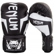 "Venum ""Elite"" Boxing Gloves - Black/White"