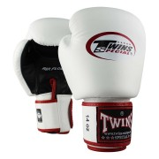 Twins Boxing Gloves ''AIR'' - White/Red