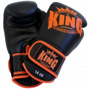 "King Bokshandschoen ""Leather"" – Zwart/Oranje"