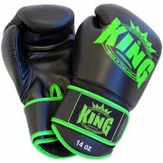 "King Bokshandschoen ""Leather"" – Zwart/Lime"