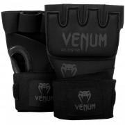 Venum ''Kontact'' Gel Gloves Wraps - Black/Black
