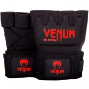 Venum ''Kontact'' Gel Gloves Wraps - Black/Red