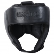 Essimo Headguard Leather Without Chin - Black/Black