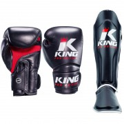 King Pro Boxing Set Star Mesh - Black