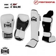 King Kickboks set - Wit/Zwart