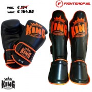 King Kickboks set - Zwart/Oranje