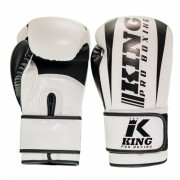 King Pro Boxing Gloves ''Revo'' - White/Black