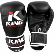 "King Pro Boxing Bokshandschoen ""Leather"" – Zwart"