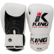 "King Pro Boxing Bokshandschoen ""Leather"" – Wit"