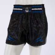 Leo PREDATOR Mesh Kickboxing Short - Black/Blue