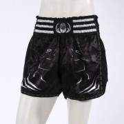 Leo PREDATOR Mesh Kickboxing Short - Black/White