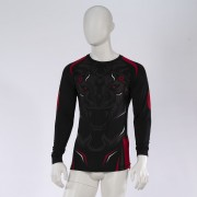 Leo ROAR Rashguard LS - Black/Red
