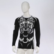 Leo ROAR Rashguard LS - White/Black