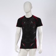 Leo ROAR Rashguard SS - Black/Red