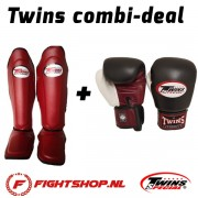 Twins (Kick)Boksset Wine red/white/black