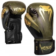 Venum Impact Gloves - Khaki/Gold