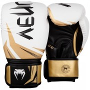 Venum ''Challenger 3.0'' Boxing Gloves - White/Black/Gold