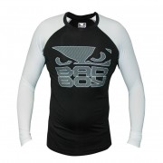 Bad Boy Engage Rash Guard Lange mouw – Zwart/Wit