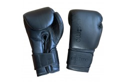 Essimo Champion Leather Gloves - Black/Black
